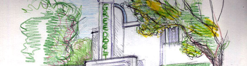 Drawing of Greenbelt by Isabelle Gournay